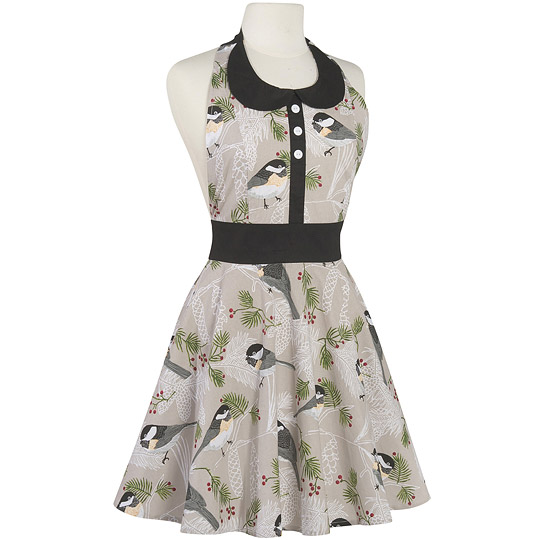 《NOW》洋装式围裙(灰雀)