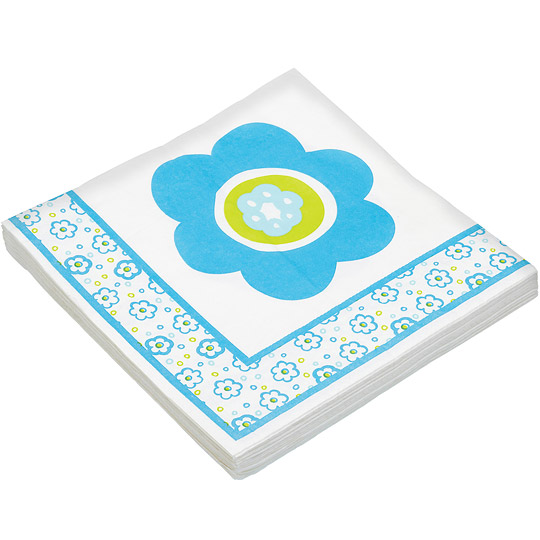 《KitchenCraft》餐巾纸20入(蓝花)