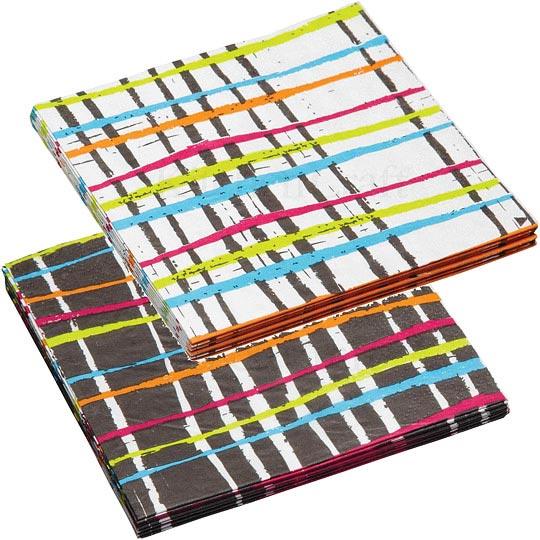 《KitchenCraft》餐巾纸20入(彩线)