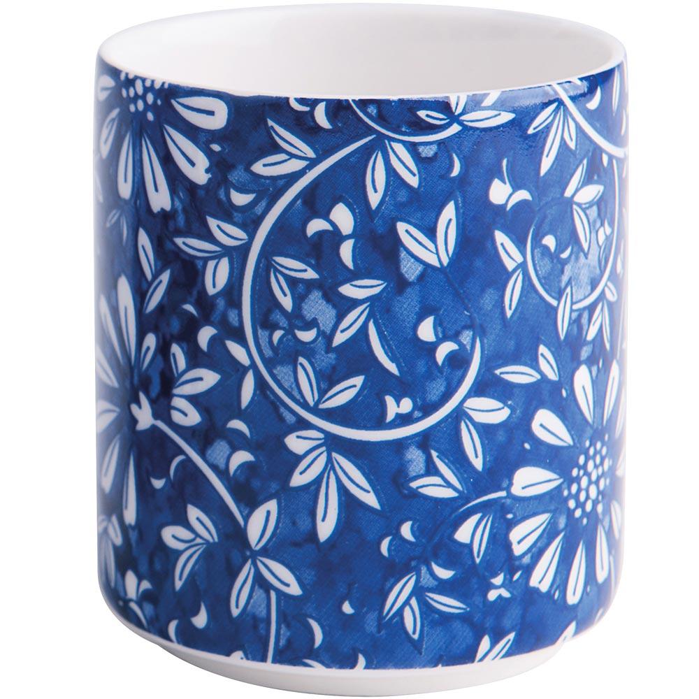 ~EXCELSA~Oriented瓷茶杯^(花卉藍100ml^)