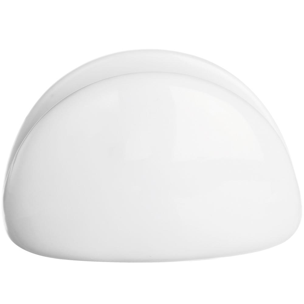 《EXCELSA》White白瓷半圆餐巾纸架