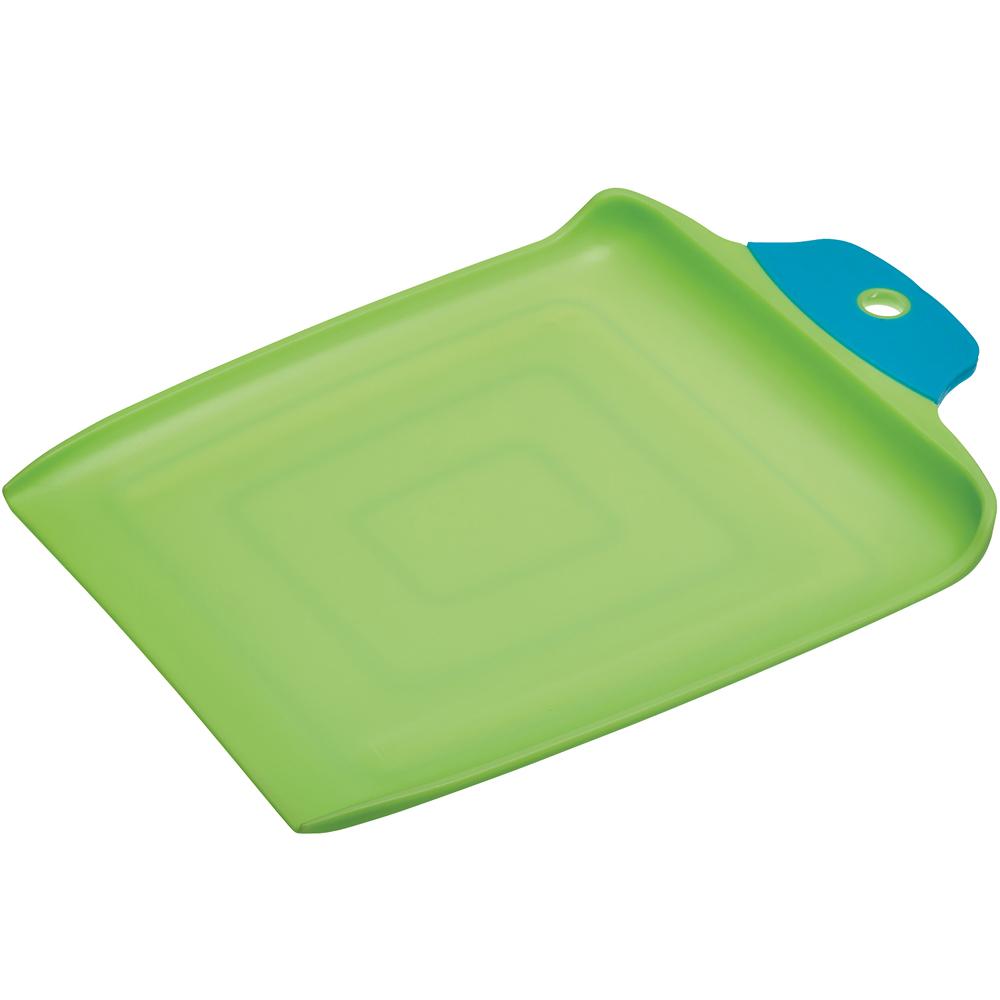 《KitchenCraft》双色铲型止滑砧板(绿34cm)