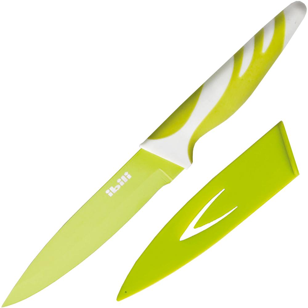 《IBILI》刀套+不沾蔬果刀(绿12.5cm)