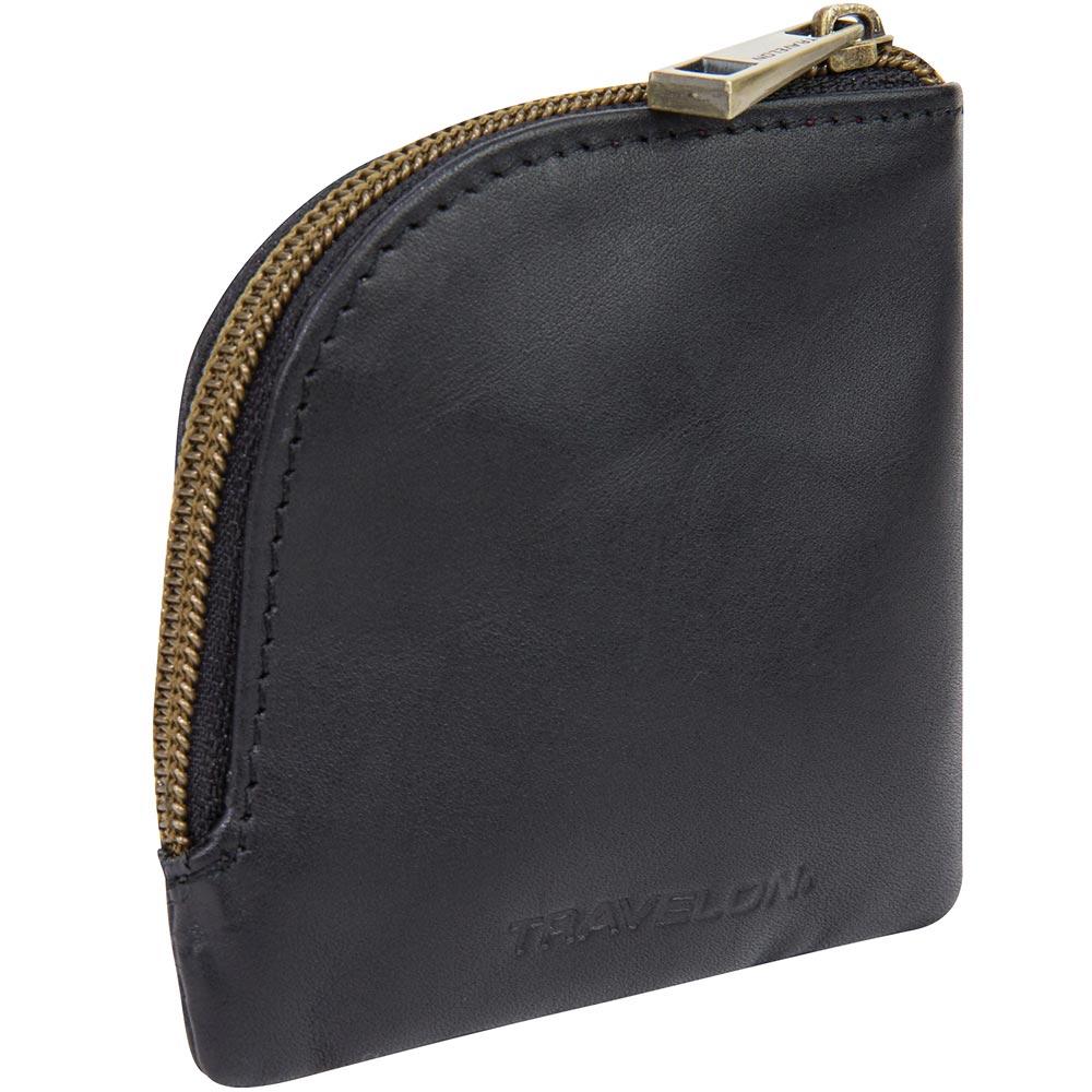 《TRAVELON》RFID缤纷扇型零钱包(黑)