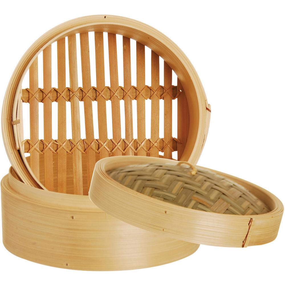 《excelsa》asia双层竹编蒸笼(18cm)图片