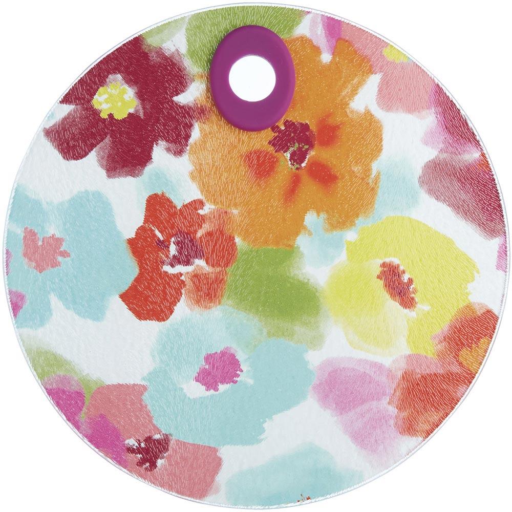 《KitchenCraft》圆砧板隔热垫(水彩百花)