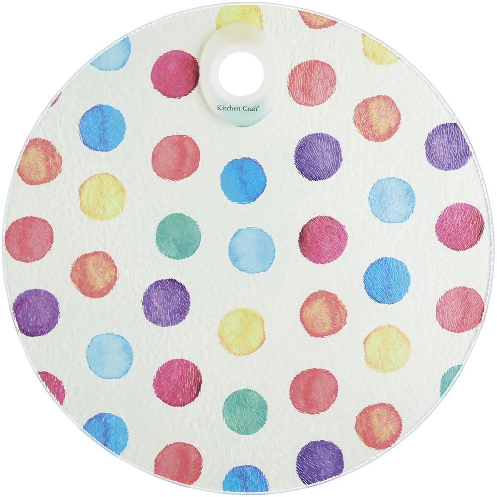 《KitchenCraft》圆砧板隔热垫(水彩点点)