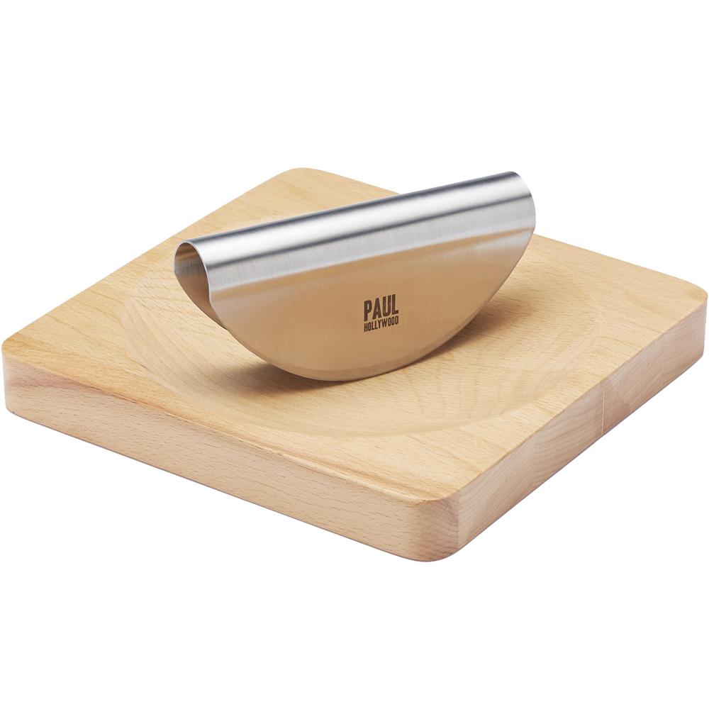 《KitchenCraft》Paul榉木砧板+香料弯刀