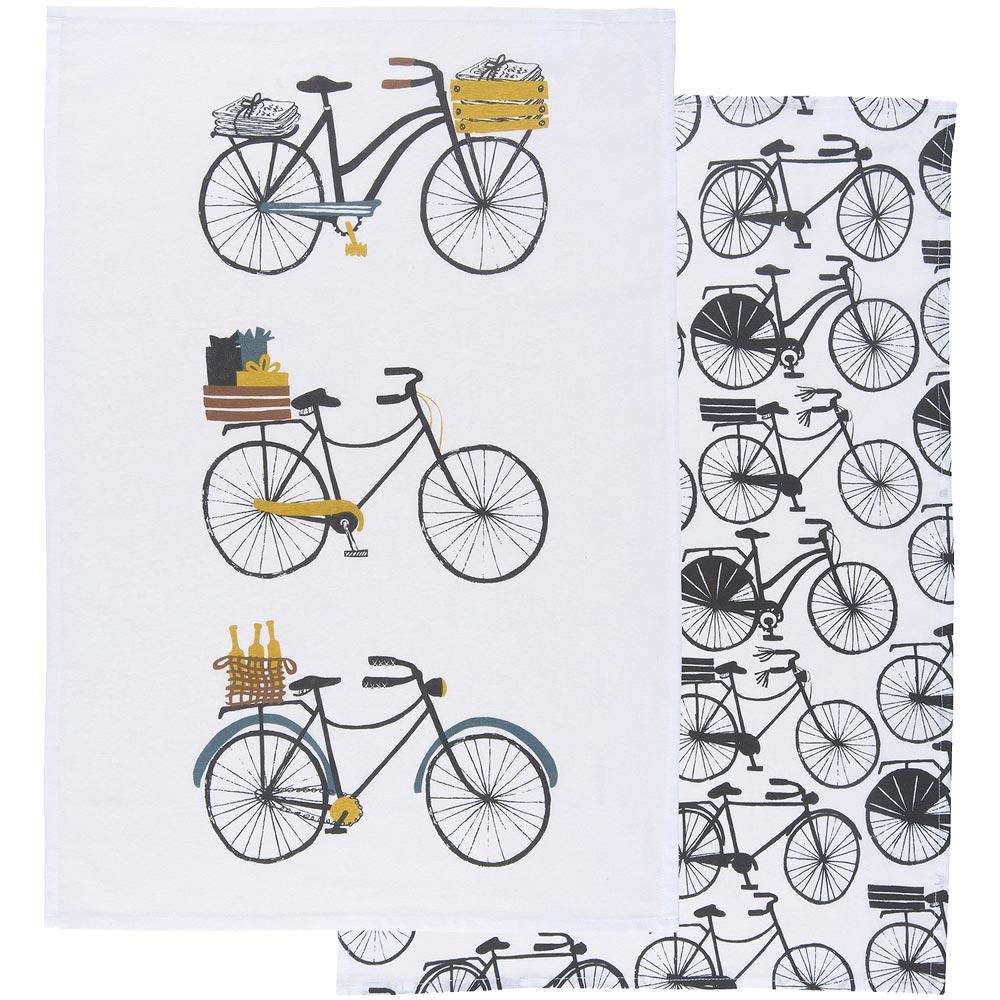 《DANICA》餐厨布巾2入(脚踏车)