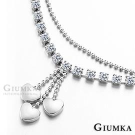 ~GIUMKA~白K飾-流心物語腳鍊鋯石銀色甜美淑女款 單個