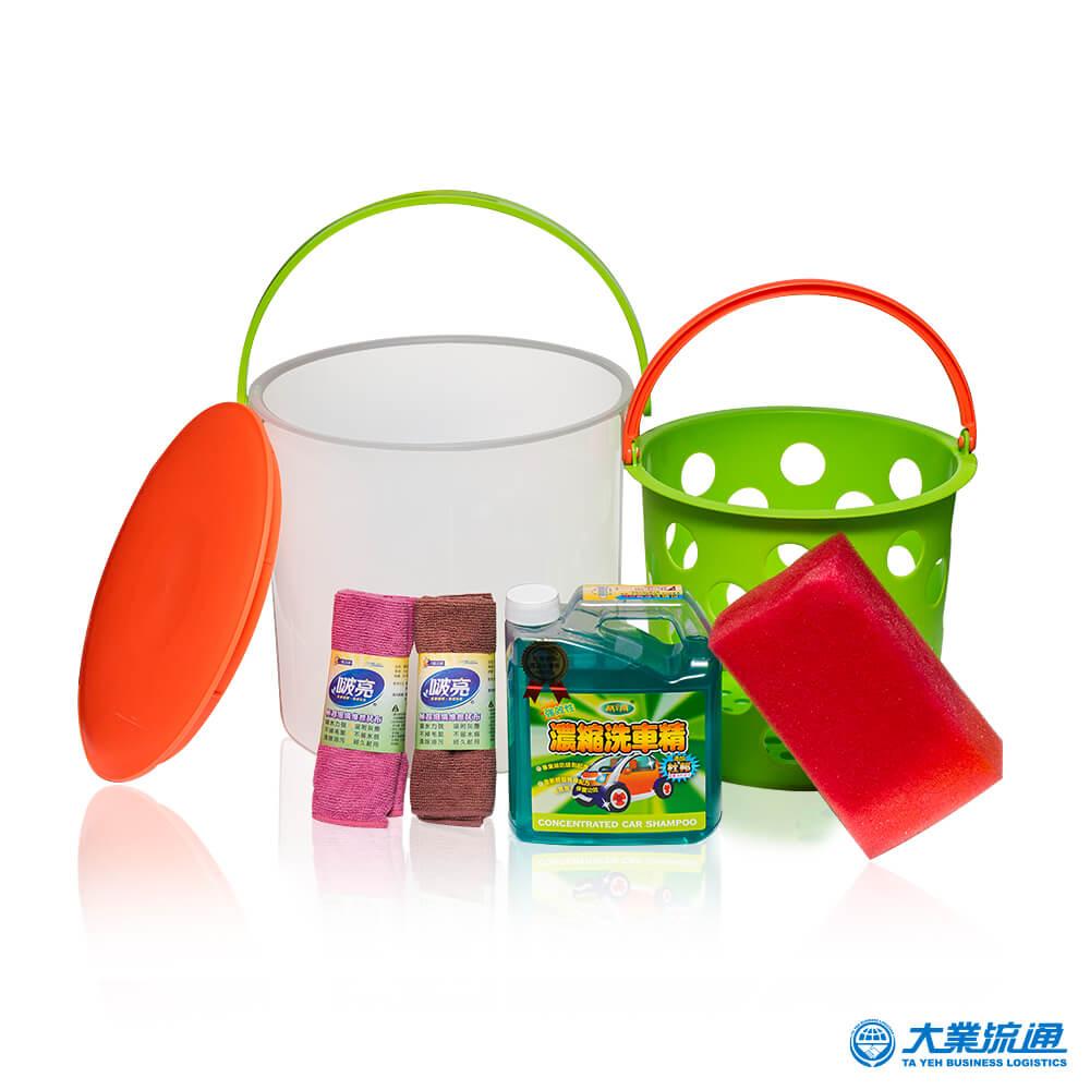 【機車族推薦】自助洗車6件組(顏色隨機)水管置放孔 自助洗車 置物收納