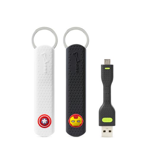 Bone  LinKey Micro USB 充電傳輸鑰匙圈~美國隊長 鋼鐵人 ^~MAR