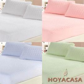 HOYACASA 單人保潔床組床包枕套三件組