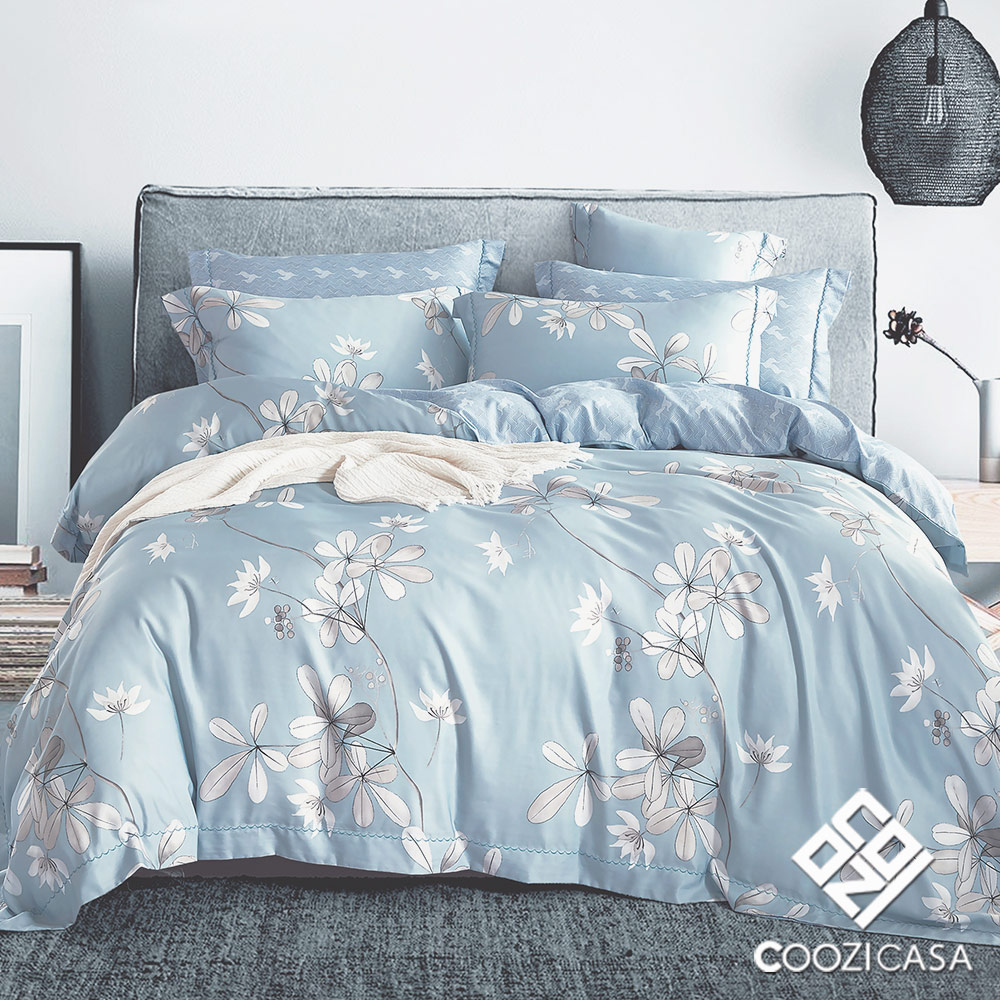 【COOZICASA青春約定】雙人四件式吸濕排汗天絲兩用被床包