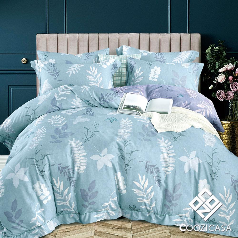 【COOZICASA暢想青春】雙人四件式吸濕排汗天絲兩用被床包組