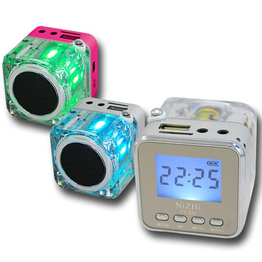 七彩炫光音箱808 USB插卡式音響喇叭
