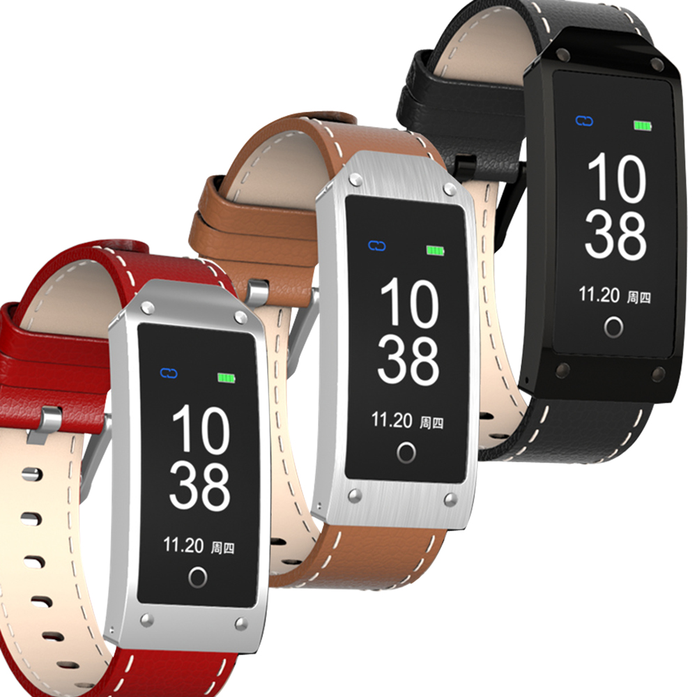 【IS爱思】ME17HO 心率血压彩色萤幕皮革款运动智慧手环