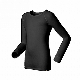 LOKI 童 MUSPEL EXOWARM 圓領保暖衣(黑色)
