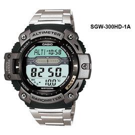 CASIO卡西歐SGW-300HD-1A溫度高度氣壓多功能運動錶登山錶公司貨