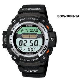 CASIO卡西歐溫度高度氣壓多功能運動錶登山錶sgw300h1a
