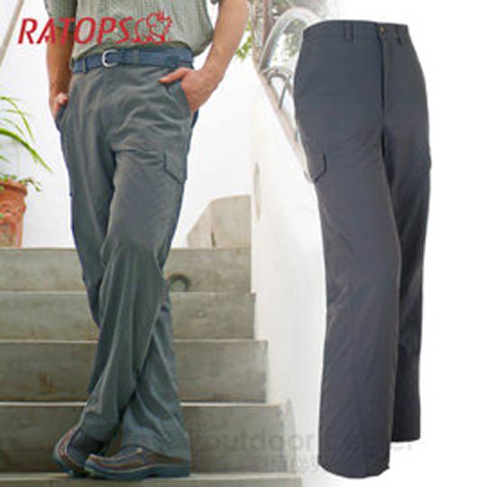 【瑞多仕 RATOPS-清凉一夏】男款 SUPPLEX 防晒快干休闲长裤/DA3141 暗蓝灰色