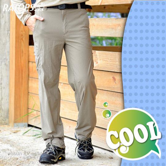 【瑞多仕-RATOPS】男款 弹性快干休闲长裤.休闲裤.排汗裤/ 吸湿、排汗、快干 / DA3183 绿卡其色