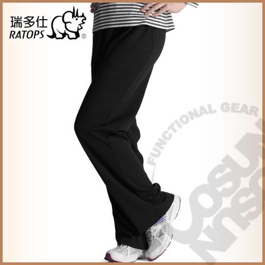 【瑞多仕-RATOPS】竹碳吸排保暖裤(素色) / 舒适.蓄热保温.吸湿排汗. DB5527 黑色