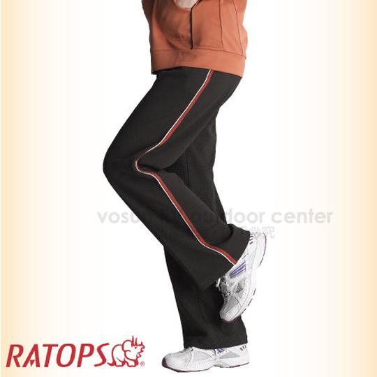 ~瑞多仕~RATOPS~ ~中性竹碳吸排保暖休閒 長褲 滾條出芽 休閒褲  DB5772 濃巧克力 桔