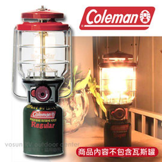 【美國 Coleman】新北極星 2500日規瓦斯燈/露營燈/附袋+電子點火器.天幕帳蓬掛燈 CM5521 紅