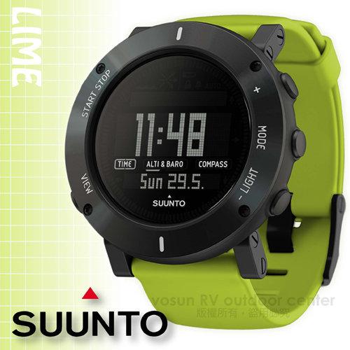 【芬蘭 SUUNTO】公司貨 New Core Lime Crush 核心心動系列 運動登山錶/氣象錶_萊姆綠 SS020693000