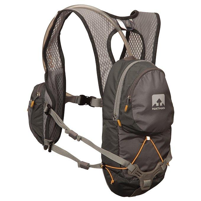 【美國 NATHAN】專業 HPL#020 2L水袋背包/含原廠水袋(僅300g)自行車補給背包/跑步.自行車_深灰 NA5025NG