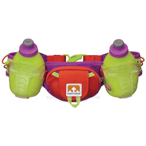 【美國 NATHAN】Trail Mix 雙專業水壺腰包-300ml/適補給訓練 三鐵 自行車 登山.馬拉松 NA4625NPTL 橘紅