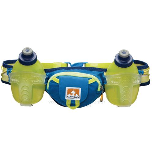 【美國 NATHAN】Trail Mix 雙專業水壺腰包-300ml/適補給訓練 三鐵 自行車 登山.馬拉松 NA4625NU 藍/黃