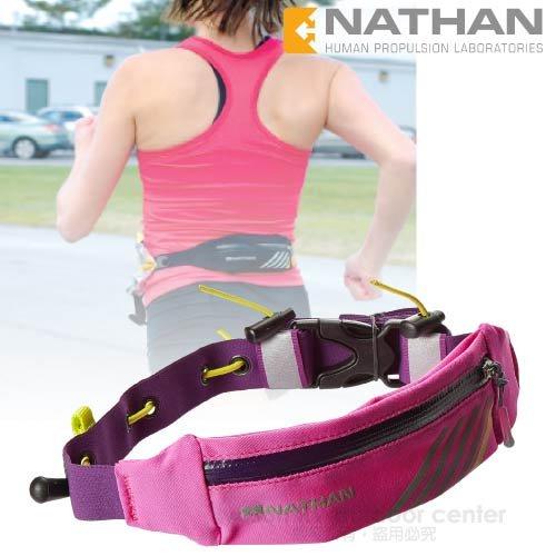 【美國 NATHAN】LightSpeed 光速補給防潑腰包帶(附號碼布夾).補給腰帶.隨身包.三鐵/NA4803NFFP 桃紅