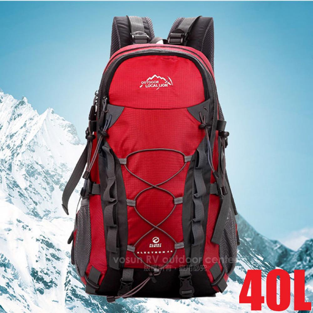 ~LOCAL LION~大容量透氣拔熱登山健行背包40L^(1.1kg^).自助旅行背包.