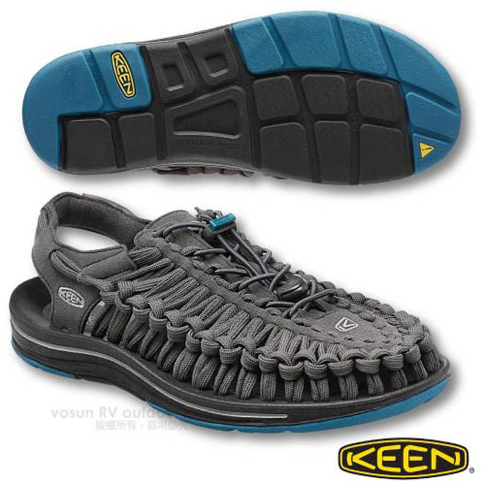 ~美國 KEEN ~男 UNEEK FLAT 輕量透氣拉繩編織涼鞋 水陸兩用鞋.適自行車.