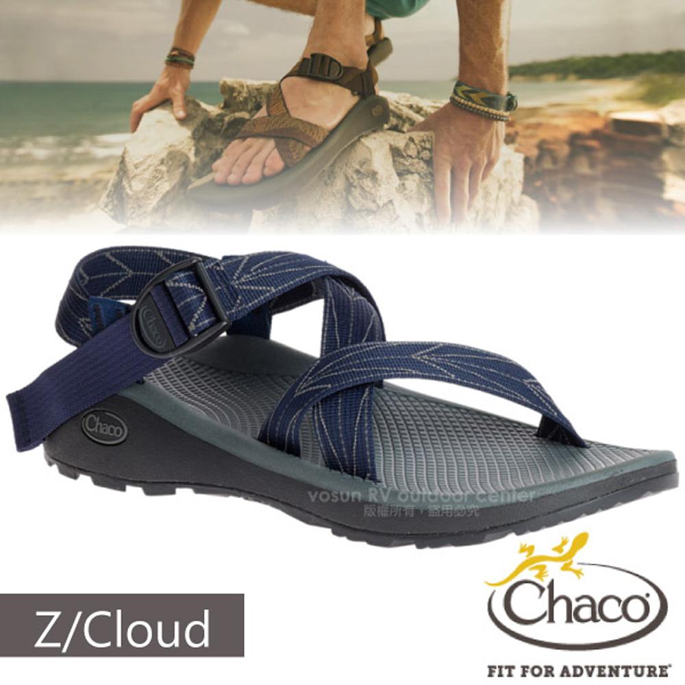 【美國 Chaco】男 Z/CLOUD 越野紓壓運動涼鞋(標準款)/戶外拖鞋.止滑.適沙灘.溯溪/CH-ZLM01-HD01 飛航藍