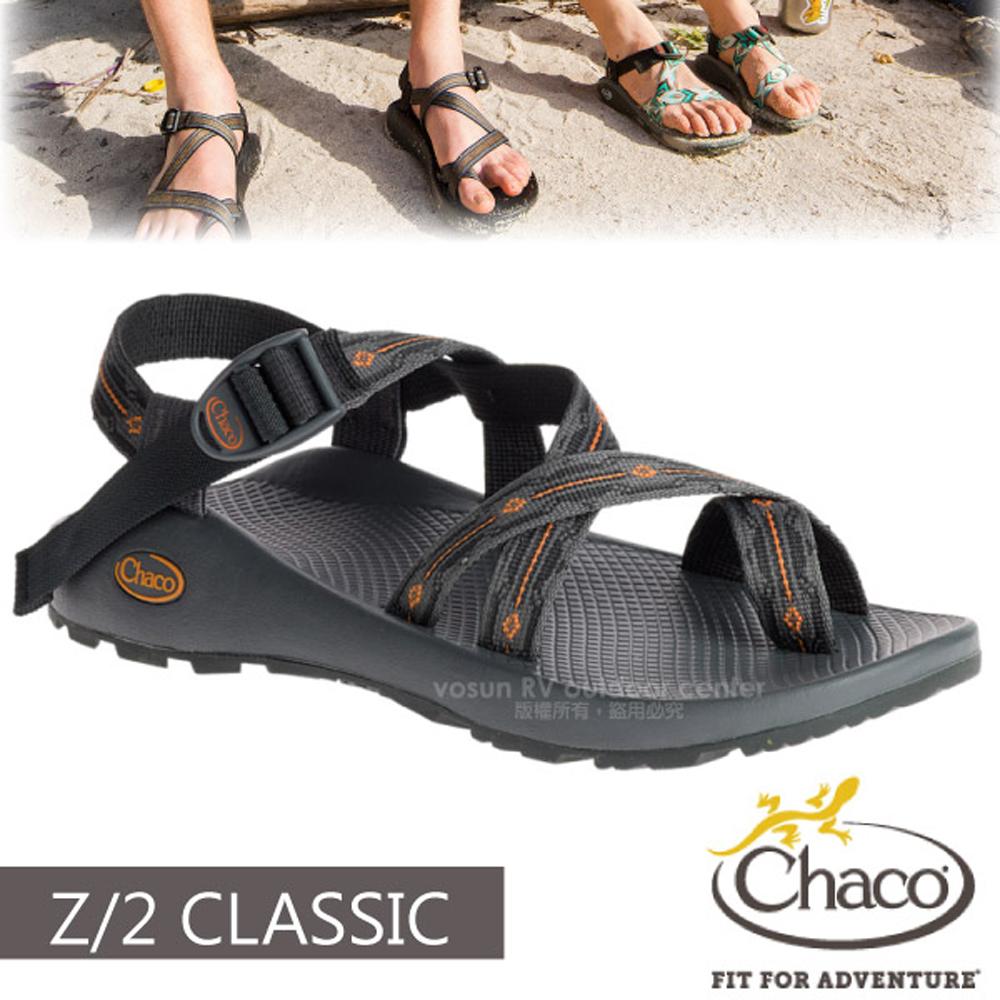 【美國 Chaco】男 Z/2 CLASSIC 越野運動涼鞋(夾腳款)/戶外拖鞋.海灘鞋.適沙灘/CH-ZCM02-HD14 核心灰