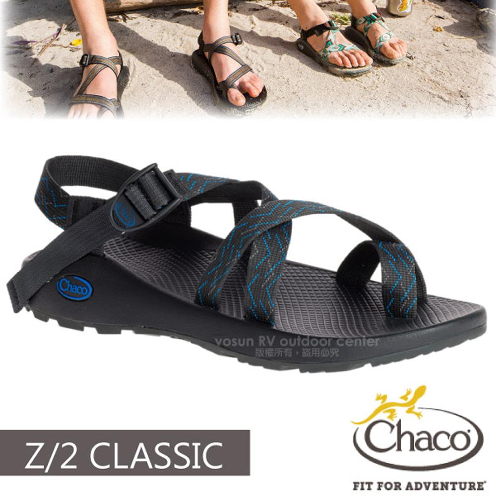 【美國 Chaco】男 Z/2 CLASSIC 越野運動涼鞋(夾腳款)/戶外拖鞋.海灘鞋.適溯溪/CH-ZCM02-HD15 皮卡托藍
