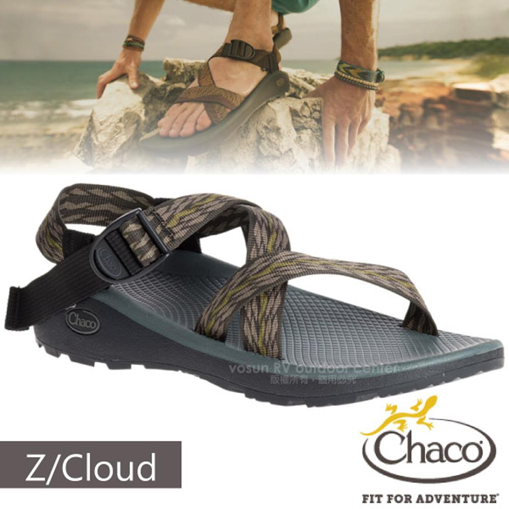 【美國 Chaco】男 Z/CLOUD 越野紓壓運動涼鞋(標準款)/戶外拖鞋.海灘鞋.適沙灘/CH-ZLM01-HD03 仙人掌