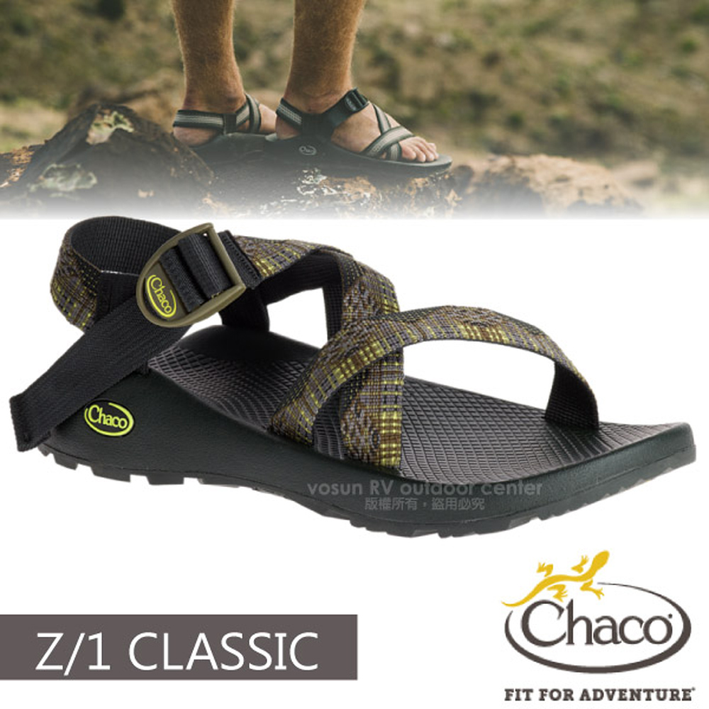 【美國 Chaco】男 Z/1 CLASSIC 越野運動涼鞋(標準款)/戶外拖鞋.海灘鞋.適沙灘/CH-ZCM01-HD10 櫸木拼接