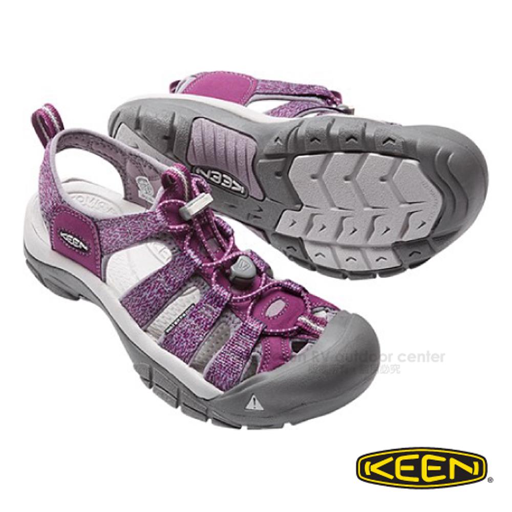 【美国 KEEN 】女新款 NEWPORT H2 专业透气快干护趾凉鞋/登山.健行.水陆两用鞋.溯溪_深紫/紫 1016289