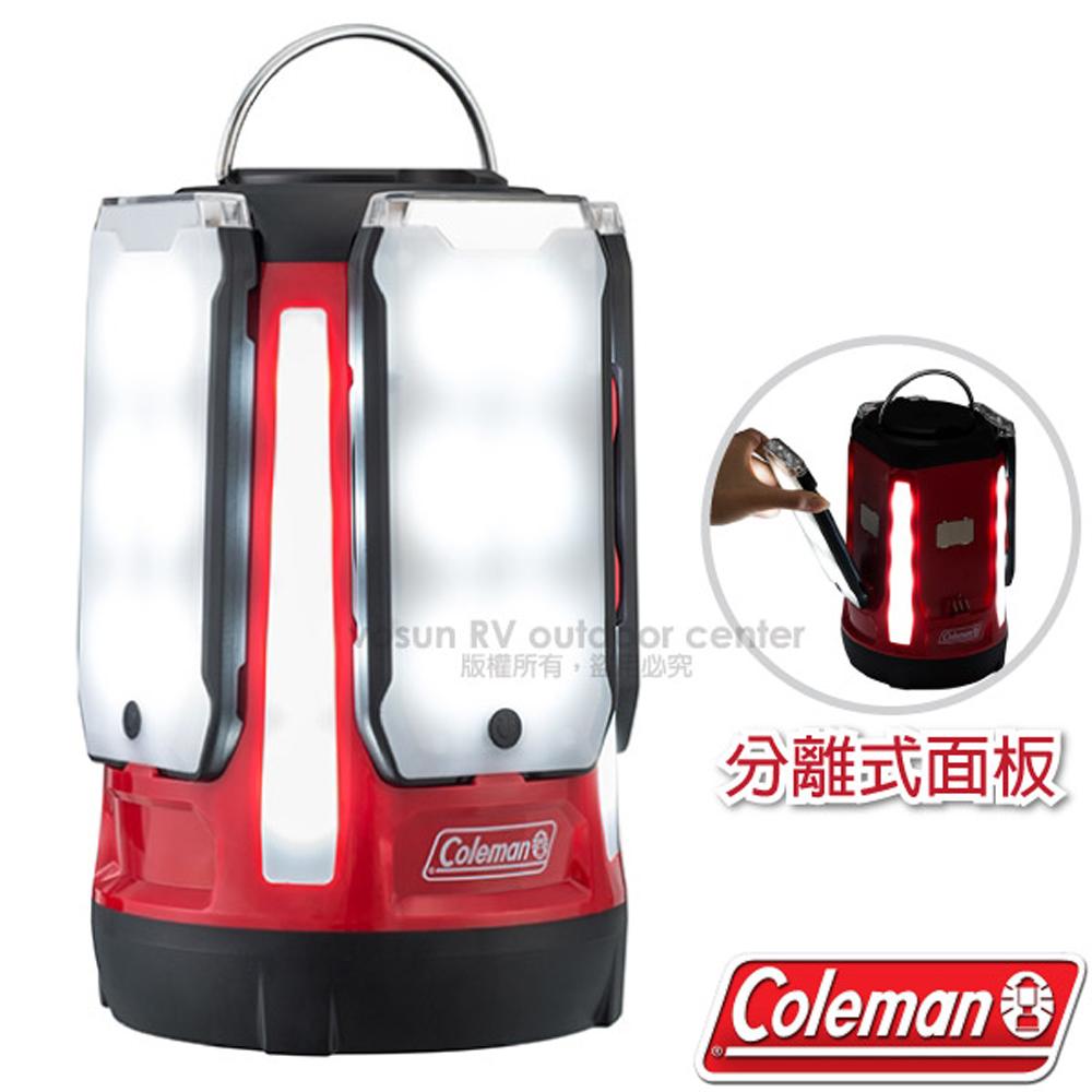 【美國 Coleman】新型 QUAD LED面板型分離式天幕帳蓬野營燈/露營燈.客廳帳棚電子掛燈/CM-31270