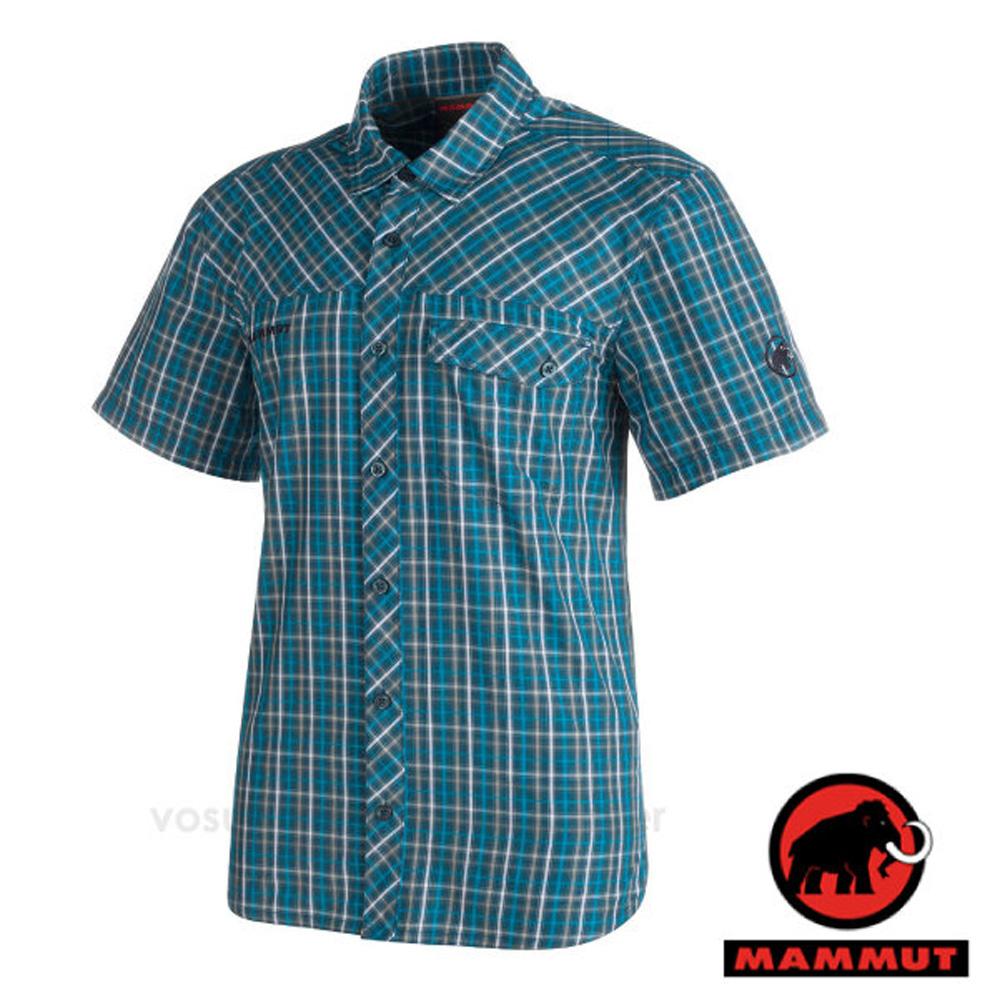 【瑞士 MAMMUT 長毛象】Asko Shirt 男 熱賣款 機能立體排汗短袖襯衫/抗菌透氣/01532-5920 獵戶藍