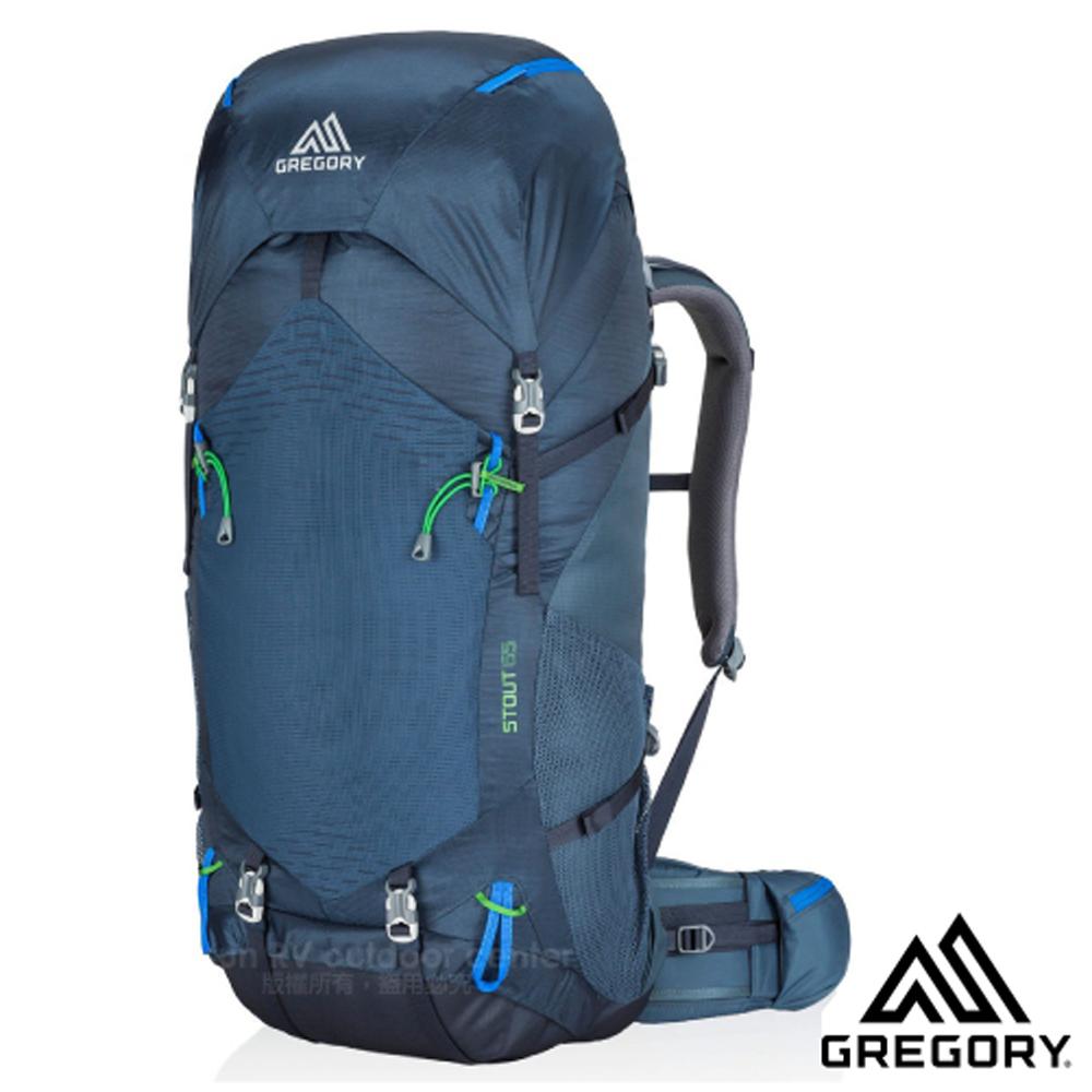【美国 GREGORY】新款 STOUT 65 专业健行登山背包(65L_附全罩式防雨罩)适自助旅行_77839 海军蓝