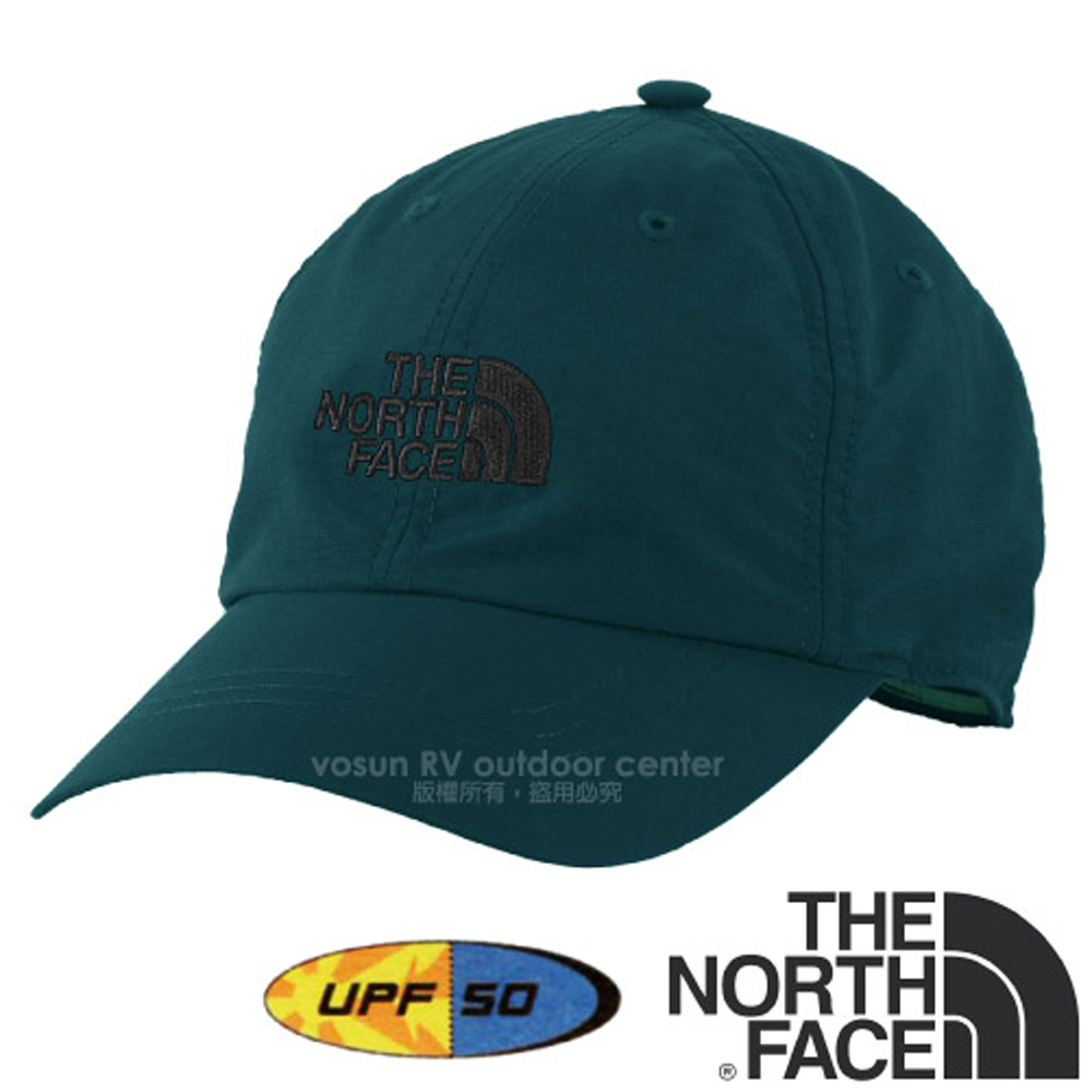 【美国 The North Face】新款 HORIZON BALL CAP 超轻透气耐磨抗UV棒球帽.防晒帽/抗紫外线 CF7W 暗蓝 N
