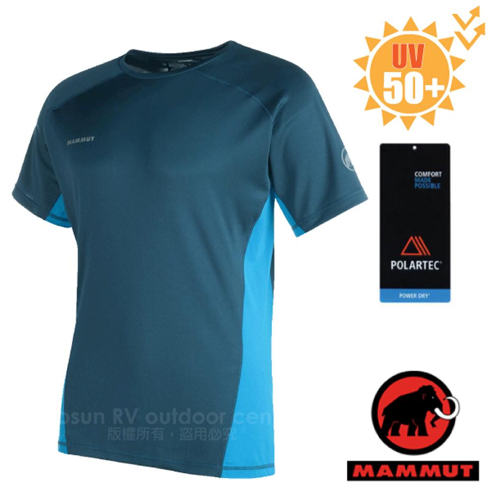 【瑞士 MAMMUT 長毛象】男新款 MTR 201 PRO 短袖休閒排汗衣.彈性運動衣.休閒衫/UV50+_07730-5870 獵戶藍