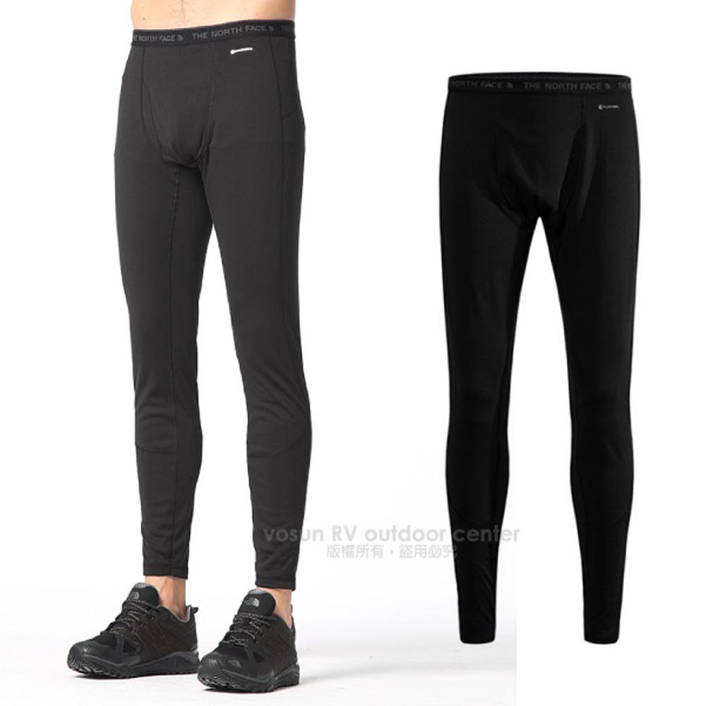 【美国 The North Face】男新款 机能FlashDry吸湿保暖卫生长裤.贴身内著.内搭裤/排汗透气快干/CL74 黑 N