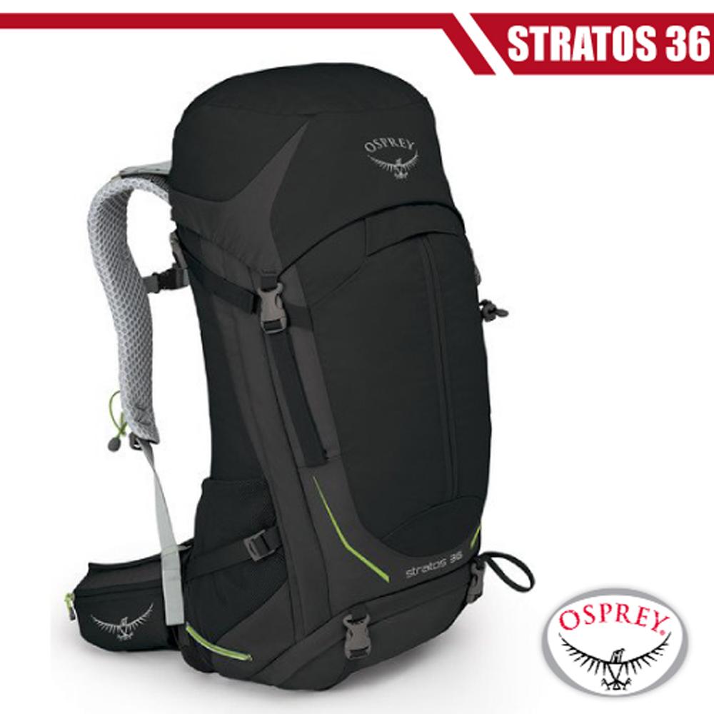 【美國 OSPREY】新款 Stratos 36 透氣立體網架健行背包.雙肩背包/超輕量抗撕裂尼龍布料_黑 R