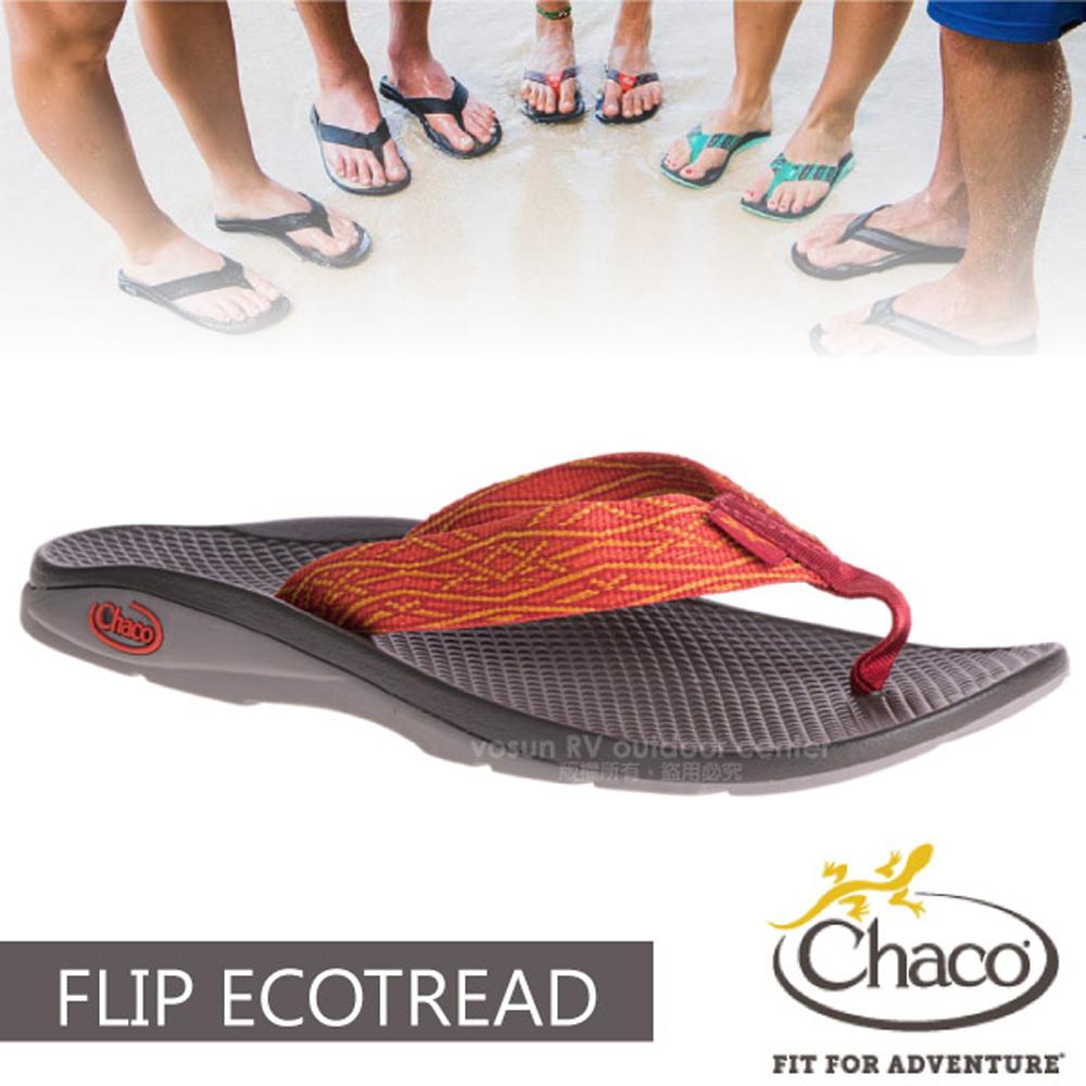 【美国 Chaco】女 FLIP ECOTREAD 户外运动凉鞋-沙滩款/户外拖鞋.海滩鞋.溯溪/CH-ETW01-HE55 威尼斯晨曦